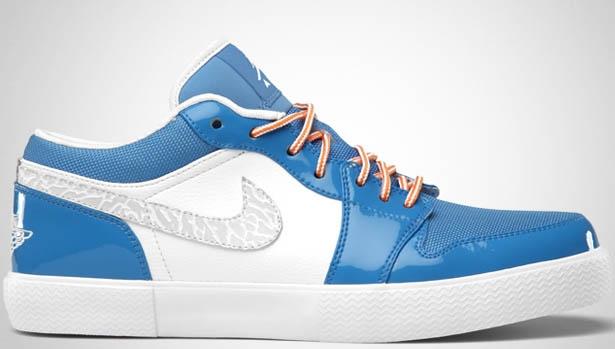 Jordan Retro V.1 White/Italy Blue-University Blue-Vivid Orange