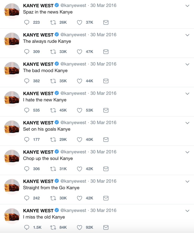 I miss the old Kanye. '